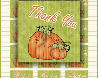 PRINTABLE Thankful Favor Tags/Fall Gift Tags/Fall Thank You/Pumpkin Diecuts/Fall diecuts/Thanksgiving Tags/Fall leaves/Pumpkin Cards
