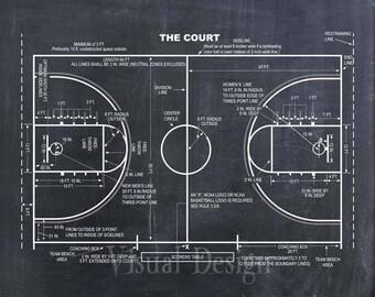 Basketball Coach Gift - Basketball Decor - Basketball Poster - Basketball Blueprint - Basketball Patent Print - Basketball Wall Art Gift