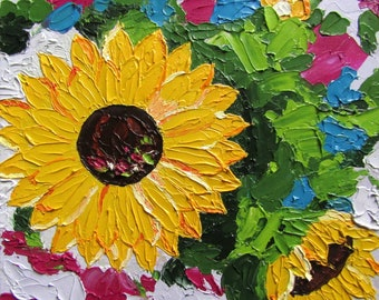 OIL PAINTING | Sunflowers