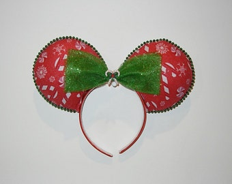 SALE Candy Cane Christmas Themed Ears