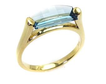 Blue topaz Ring.