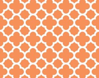 Riley Blake Fabric - 1 Fat Quarter Quatrefoil in Orange