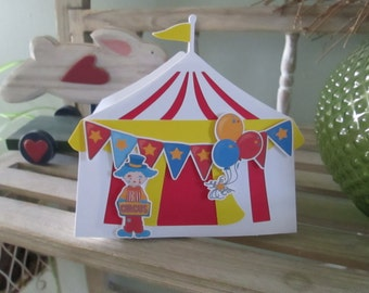 Circus Tent Large Open Favor Box Set of 10 with Free Shipping