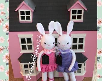 Handmade crochet Ballerina Bunny ,Ballerina rabbit, baby shower gifts ,plush animals ,amigurumi, gifts for girls,nursery decoration