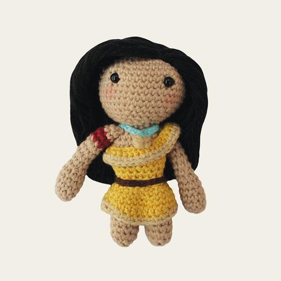 Pocahontas - Disney Princess.  Amigurumi Pattern PDF.