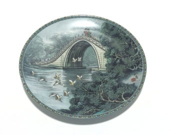 Imperial Jingdezhen Porcelain Jade Belt Bridge Summer Palace Edition Ching-te Chen porcelain Collectible Plate