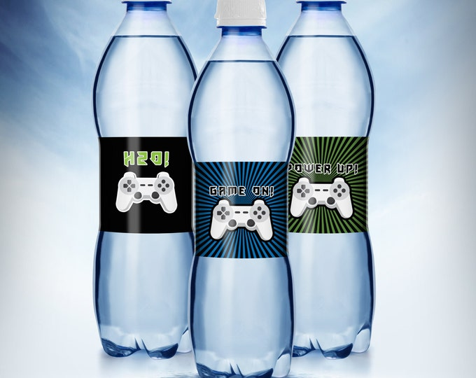 Video Game water label | Game Truck Party | Video Game Party Favor| Boy Birthday Invitation | Game Truck, VIP , labels