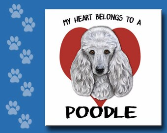 POODLE TRIVET, Poodle Tile, Poodle  Ceramic Tile,  Poodle Spoon Rest, Poodle  Sign, Choose your style