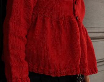 Princess Peplums cardigan knitting pattern Instant Download