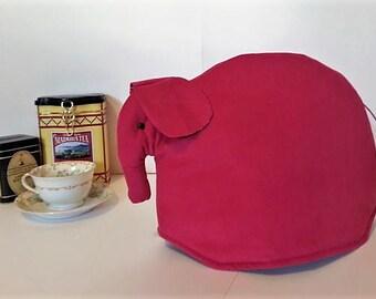 Elephant tea cozy, tea cosy: Ellie the pink corduroy elephant tea cozy