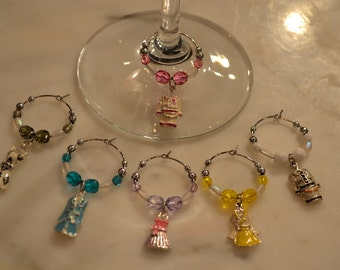 Dress Dresses Evening Gown Prom Fashion Wine Charms v3