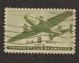 Air Mail Postage Stamp 8c Transport Plane Scott #C26 NH