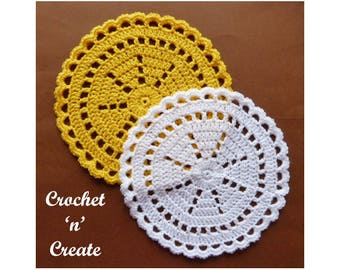 Crochet Quick Doily Crochet Pattern (DOWNLOAD) CNC85