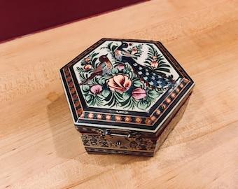 Gorgeous Folk Art Wooden Box