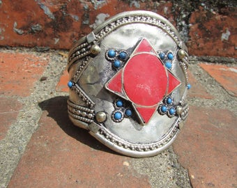 Tribal Red Star Cuff Bracelet