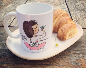 "MUG ""C'est si bon quand on s'pose"""