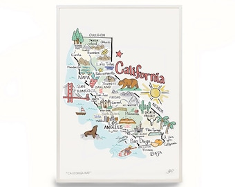 California map Etsy