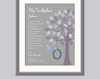 Godfather Gift - Gift For Godfather - Godfather Print - Christening Gift For Godfather - Godfather Gift For Baptism - Gift From Godchild