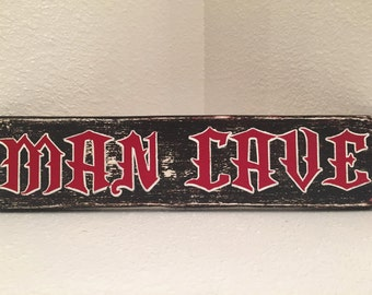 Man Cave - Wall decor, wood sign, hand-made