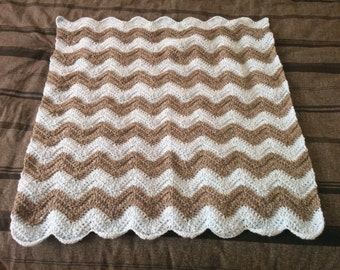 Chevron Pattern Blanket with multi-color