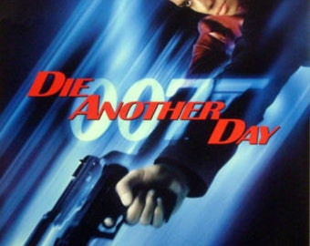Die Another Day 27x40 Advance One Sheet Movie Poster James Bond Brosnan Berry