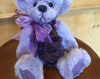 Violet: a handmade jointed teddy bear from Jazzbears