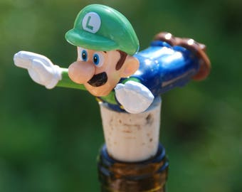 Luigi Wine Bottle Stopper Super Mario Brothers