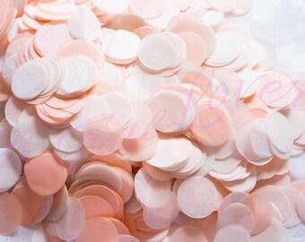 PEACH CONFETTI/peach &champange/wedding confetti /birthday/table confetti /confetti toss/ballon confetti/Bridal Shower/ Baby Shower/Weddings