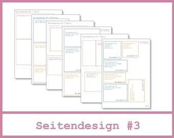 6x4 Mini Album - Anleitung - Seitendesign #3 - Seiten 3.0 bis 3.7