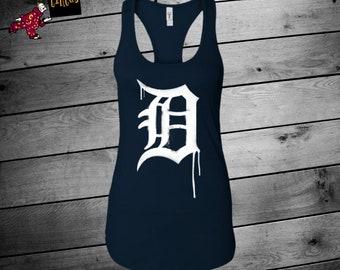 Tigers Shirt, Detroit Tigers, Tigers Graffiti Tank, Tigers Shirts For Women, Tigers Tank, Detroit Baseball Shirt,  Womens Tigers, Baseball