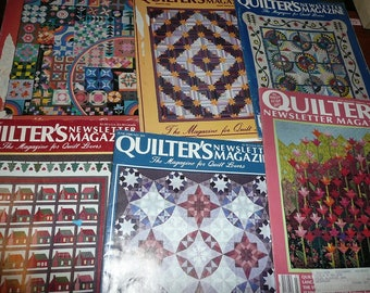 Vintage Quilters Newsletter Magazines 1980's