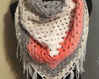 Knot Your Ganny's Square Shawl/Triangle Scarf