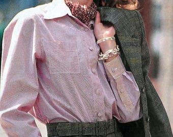 Modes & work September 92 - blouse sewing pattern