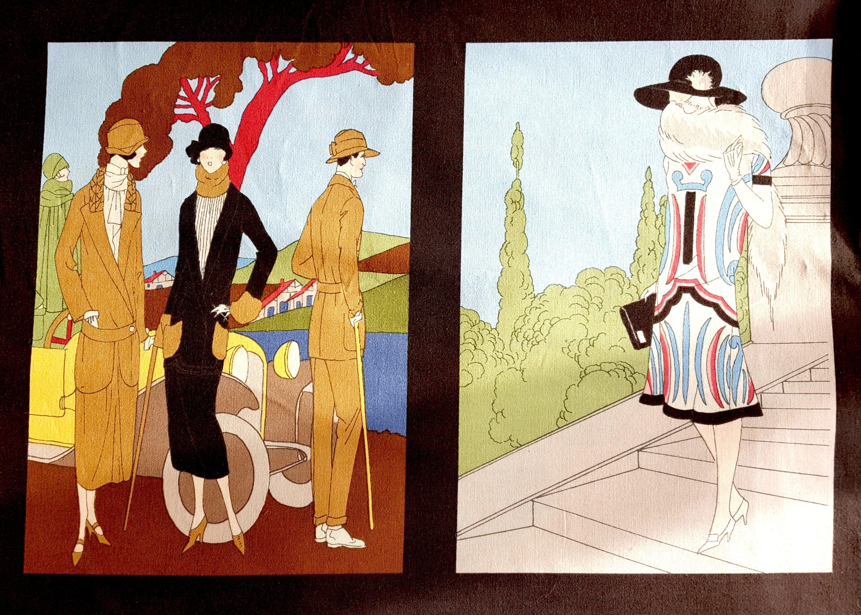 Robert Kaufman Glamour Girls Fabric - Flapper Girls Fabric - 1920s ...