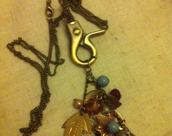 STEAMPUNK (clasp droplet) necklace