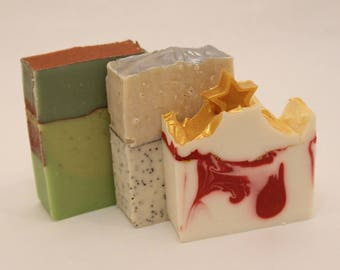 Holly Jolly Gift Box, Homemade Goat Milk Soap