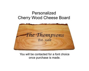 Engravable Cheese Board, Cheese Board, Rustic Cheese Board, Rustic Cutting Board, Cherry Cutting Board
