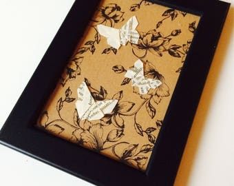 Origami | Butterfly | Book | Love | Shabby Chic | Retro | Paper Craft | Wedding | Anniversary | Gift | Home