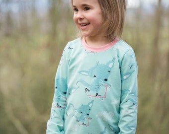 Skateboarding Fox Cotton Jersey Top, Made to Order 1-6y