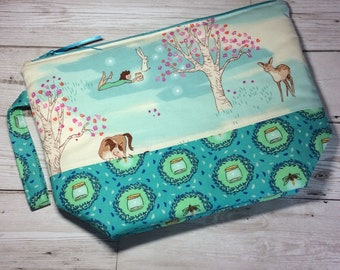 Zippered project bag - Searching for Fireflies