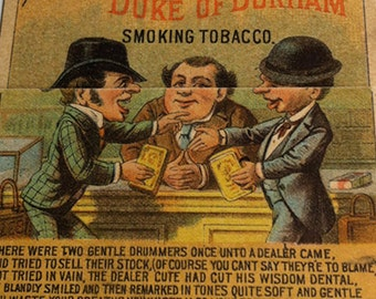 Durham Smoking Tobacco Mechanical Trade Card
