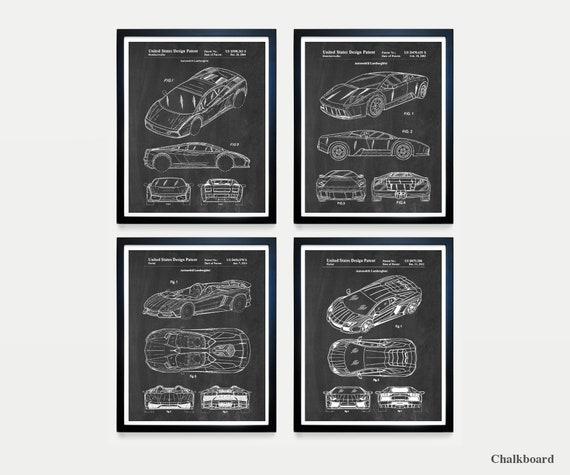 Lamborghini Patent Art - Lamborghini Poster - Lamborghini Decor - Automobile - Car - Car Poster - Sports Car - Car Patent - Race Car -Racing