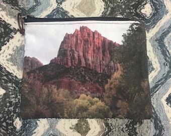 Zion Utah Zipper Pouch, Accessory Case