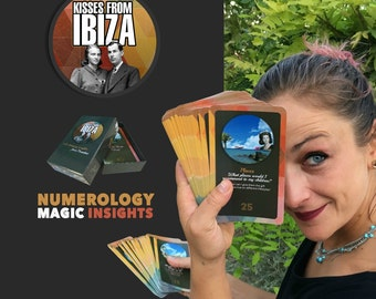 oracle Cards - Numerology - Playing Cards - Gift Idea - Illustrated Cards - Art Cards - Deck of cards- Spiritual Cards - Kisses from Ibiza