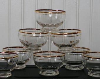 Vintage Sherbert - Desert- Custard Cups