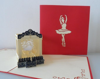 Ballet at the Theatre Pop up Card Birthday- Congratulations- Anniversary- Blank (sku006)