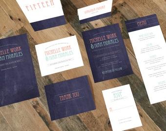 Printable Wedding Invitation Suite - Chalkboard