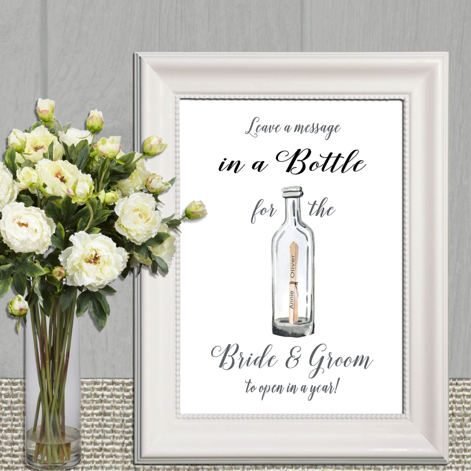 Wedding message in a Bottle Sign Wedding Guest book sign