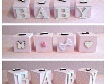 Wooden baby blocks/ bricks