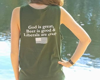 God Is Great, Beer Is Good, And People Are Crazy Tank